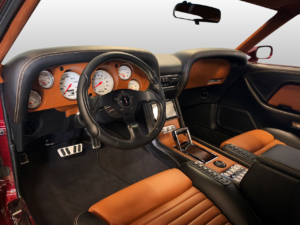 Interior of a 1970 Mustang wired with the Infinitybox system