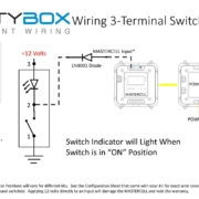 Image showing how to wire a switch with an Indicator Light to the Infinitybox MASTERCELL