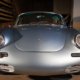 Front shot of a 1965 Porsche 356C wired with the Infinitybox system.