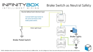 Image of wiring diagram showing how to use your brake pedal as a neutral safety switch