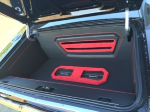 Finished trunk of 1968 Charger wired with the Infinitybox system
