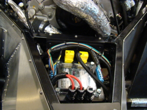 Rear POWERCELL in Factory Five GTM wired with the Infinitybox System