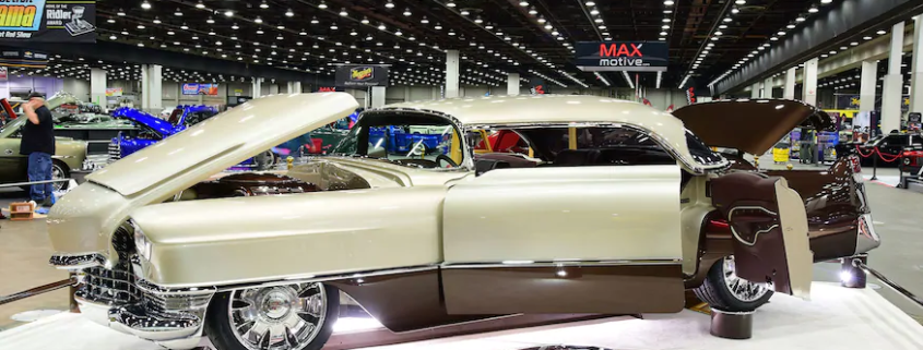 1955 Cadillac DeVille at the 2020 Detroit Autorama