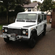 Picture of a Land Rover Defender 110 wired with the Infinitybox system.