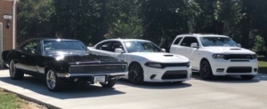 1968 Charger with the rest of its MOPAR Brothers