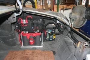 Rear POWERCELL and inRESERVE solenoid installed in 1969 Chevelle wired with the Infinitybox system