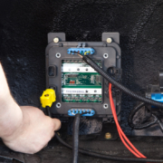 Picture of CAN cable being plugged into Infinitybox POWERCELL