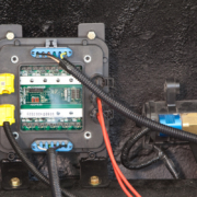 Picture of POWERCELL with CAN cable in 1967 Mustang wired with the Infinitybox system