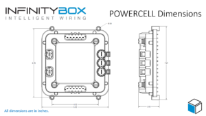 Outline dimensions for the Infinitybox POWERCELL