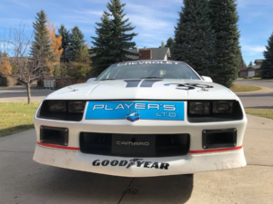 Front end of Player's LTD Camaro wired with Infinitybox Express Track Car Kit