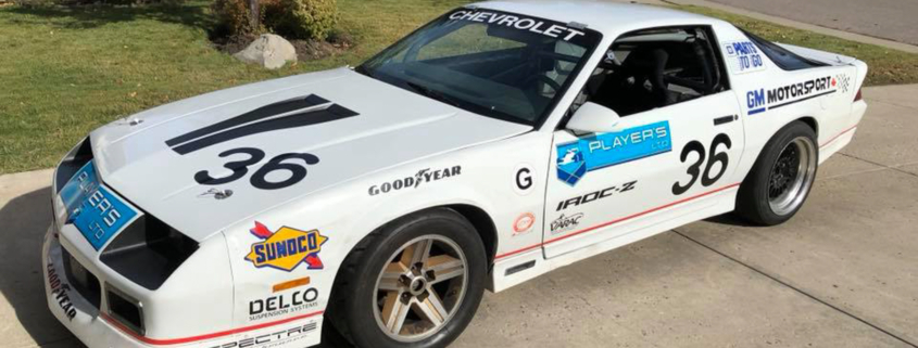Side shot of Player's LTD Camaro wired with Infinitybox Express Track Car Kit