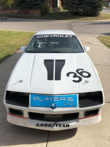Front shot of Player's LTD Camaro wired with Infinitybox Express Track Car Kit