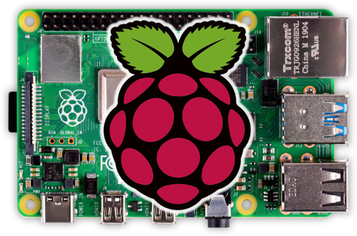 Picture of a Raspberry Pi 4. This can be used to interface a touch screen into the Infinitybox inTOUCH NET