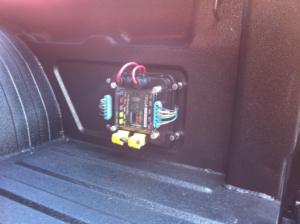 Rear POWERCELL in bed of a Chevy S10 Show Truck wired with the Infinitybox system.