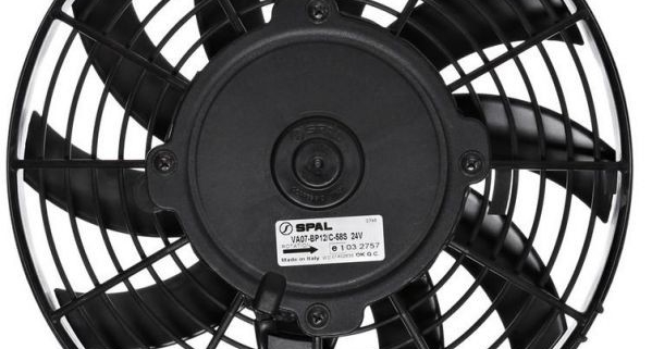Picture of a Spal Cooling used in our 1967 Mustang wired with Infinitybox
