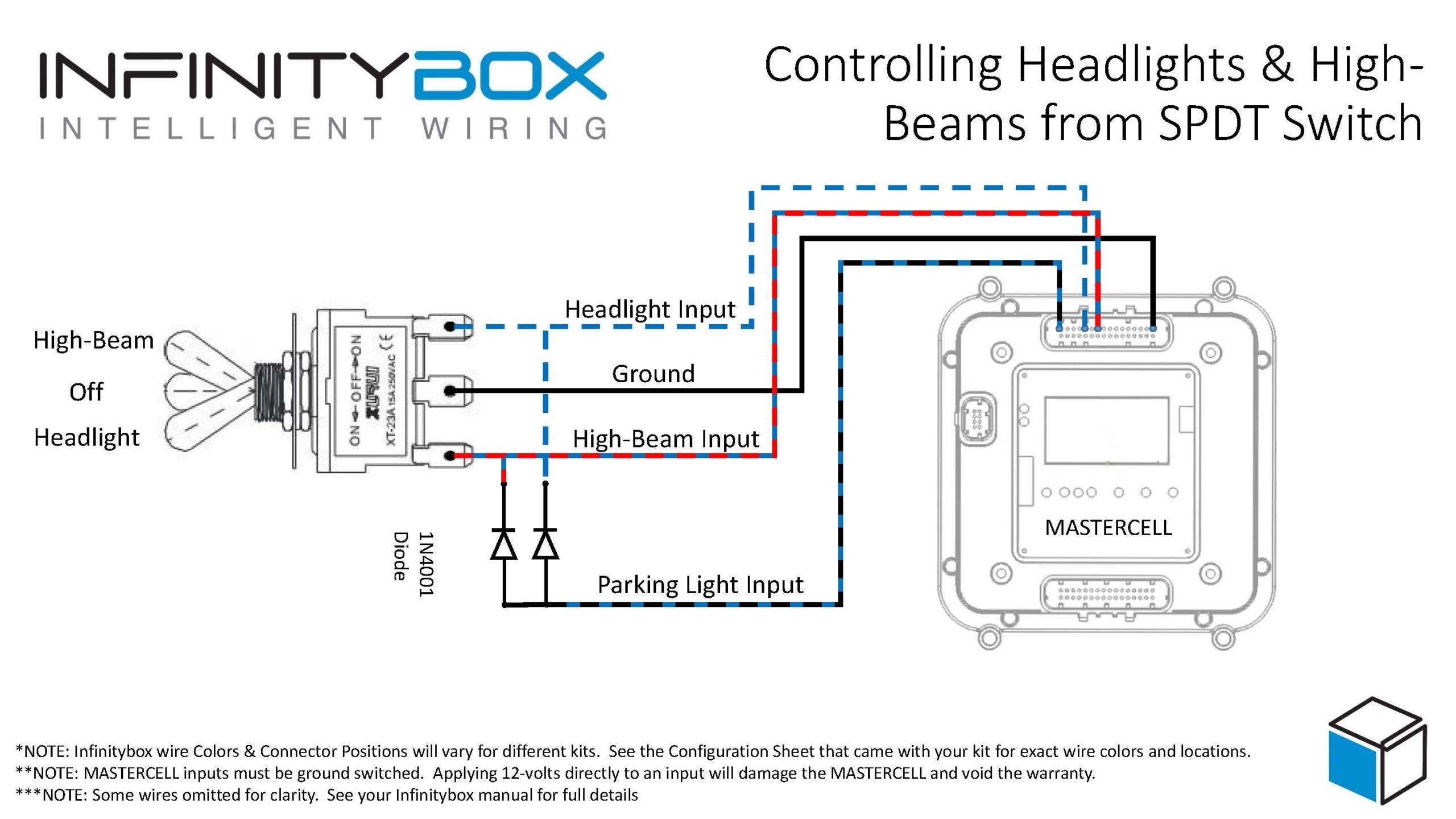 Headlights with SPDT Switch - Infinitybox   Spdt Switch Wiring Diagram      Infinitybox