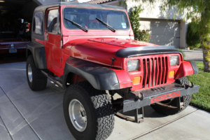 Jeep YJ Before Restoration and Rewiring with Infinitybox