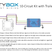 Picture of wiring diagram showing how to use a trailer converter with the Infinitybox 10-Circuit Kit.