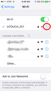 Step 4 of connecting the Infinitybox inTOUCH NET Module to your Apple Device