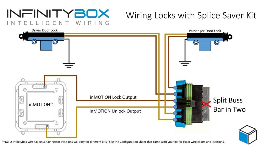 Wiring door lock actuators with the Infinitybox Splice Saver Kit