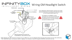 Picture of a wiring diagram for a typical headlight switch