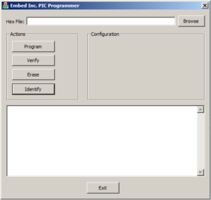 Picture of the inCODE Graphical User Interface