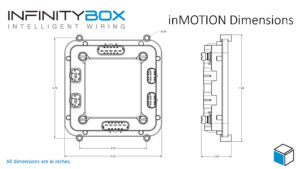 Outline dimensions for the Infinitybox inMOTION Cell