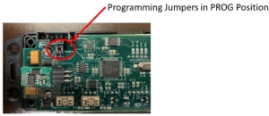 Picture of the Infinitybox inVIRONMENT Board Showing the Board Set for Programming