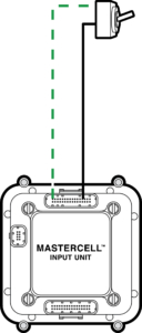 Simple diagram showing how to wire a switch to the Infinitybox MASTERCELL